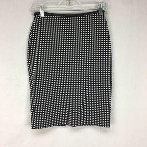 Express Black/White Gingham Pencil Skirt